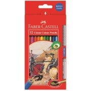 Creioane colorate 12 culori + grip 2001 Fighting Knights Faber-Castell
