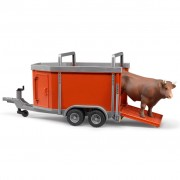 Bruder Cattle Trailer with 1 Cow 1:16 02029
