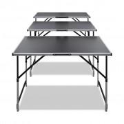 vidaXL Behangtafel inklapbaar en in hoogte verstelbaar 3 st