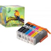 Ink Hero - 6 Pack met grijs - Inktcartridge / Alternatief voor de Canon CLI-551 PGI-550 PIXMA iP8750, MG6350, MG7150, MG7550