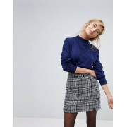 Willow And Paige Smart Jumper With Double Neck Detail - French navy