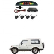 KunjZone Car Reverse Parking Sensor Black With LED Display Parking Sensor For Maruti Suzuki Gypsy
