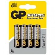 Gp Batteries Blister 4 Batterie Supercell Zinco Carbone Stilo AA R6