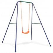 vidaXL Единична люлка с оранжеви седалки