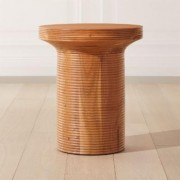 Trill Round Wood Side Table by CB2