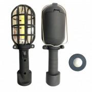 Lanterna Lampa Lucru COB LED 5W cu Magnet si Agatatoare pe Baterii