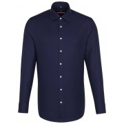 Seidensticker Overhemd Twill Uni Light Business Kent Navy / male