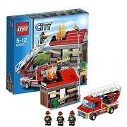 LEGO (LEGO) City Fire trucks and House 60003
