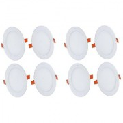 Alpha 3 Watt round Ceiling LED Panel Light (Pack of 8 Lights)