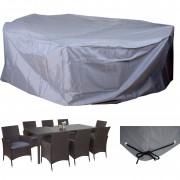 Abdeckplane Abdeckhaube Schutzplane Schutzhülle für Garnituren, grau Ø300cm ~ Variantenangebot