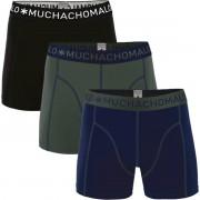 Muchachomalo Boxershorts 3er-Pack 186 - Dunkelgrün Größe M