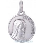 medaglia madonna di medjugorje in argento 16 mm