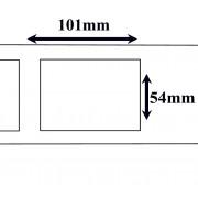 Labels Seiko compatible labels 101 x 54 mm (SLP SRL) (10 st)