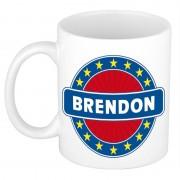 Bellatio Decorations Voornaam Brendon koffie/thee mok of beker