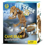 GEOWORLD-ICE AGE EXCAVATION KIT - CAVE BEAR SKELETON