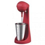Μашина за фрапе и напитки Singer SDM100RRD, Вместимост на мензура 0.450л, Защитен бутон, Нехлъзгаща се основа, 100W, червена