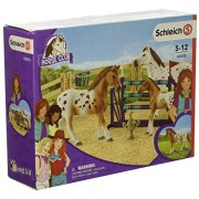Schleich Horse Club Lisa's Tournament Training Figurine Toy Play Set, Multicolor