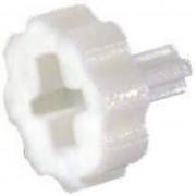 Buton de reglaj alb, Ø axa 3,2 mm