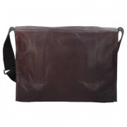 Strellson Coleman 2.0 Messenger Leder 39 cm Laptopfach dark brown