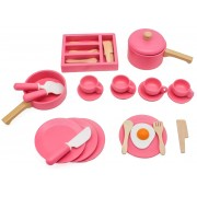 Woodi World Toy Köks-set i Trä 36 Delar Woodi World Toy