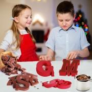 Chocoladeletter mallen - siliconen mal - K