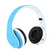 Wireless bluetooth headset STN12 Met Fm radio en Geheugen Poort blauw Voor o.a iPhone 4 / 5 / 6 / 6S PLus Samsung Galaxy S4 / S5 / S6 / S7 EDGE PLUS / LG / HTC / Huawei / Sony