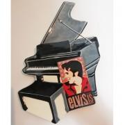 Elvis Presley - 23cm Zwarte Piano Schaal