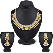 Aadita Ethnic Traditional Gold Plated Choker Rajwadi Royal Necklace Set with Earrings for Women and Girls