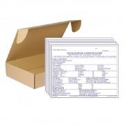 Set 20 Fise de Cazare A5, 2 Ex, 50 Seturi/Carnet - Formular Anuntare Sosiri, Plecari
