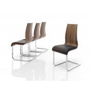 items-france NASH x8 - Chaise en bois noyer
