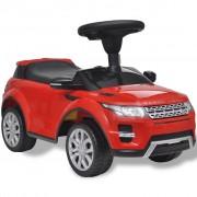 vidaXL Mașinuță pentru copii muzicală, Land Rover 348, roșu