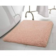 "Laura Ashley Rachel Lurex Bath Rug, 20"" x 34"", Blush"