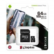 Kingston CANVAS SELECT PLUS MICROSDXC 64GB CLASS10 UHS-I A1 100MB/S