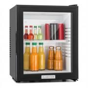 Klarstein MKS-12, 24 l, neagră, minibar, mini frigider, ușă de sticlă, frigider de cameră, clasa de energie A (HEA-MKS-12)