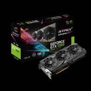 VGA Asus ROG Strix GeForce GTX 1080 8GB, nVidia GeForce GTX 1080, 8GB 256-bit GDDR5, do 1860MHz, DP 2x, DVI-D, HDMI 2x, 36mj (STRIX-GTX1080-8G GAMING)