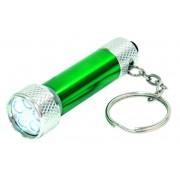 LED-es elemlámpa fém, kulcstartós