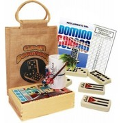 Cuban Style Domino Kit With Rules, Score Pad And Pen. Double Nine