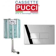Pucci Cassetta Di Scarico Da Incasso Modello Pucci Eco Completa Di Placca Eco Linea Cromata