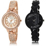 The Shopoholic Silver Black Combo Fashionable Fancy Collection Silver And Black Dial Analog Watch For Girls Watches For Stylish Women