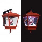 vidaXL Коледна LED лампа за стена с Дядо Коледа, червена, 40x27x45 см