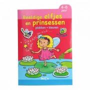 Lobbes Plak en Kleur Beeldige Elfjes en Prinsessen, 4-6 jaar