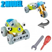 Toys Bhoomi 2 IN 1 Take-Apart 3D Model Racing Car Dune buggy Assembly Construction Building Blocks Puzzles DIY Playset with Screw Nuts & Tools