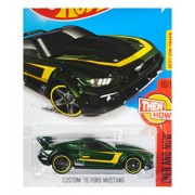 Custom '15 Ford Mustang #110 Green Hot Wheels 2016 Hot Wheels Case D