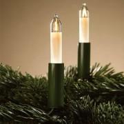 Hellum Green small candle string lights, 15 bulbs