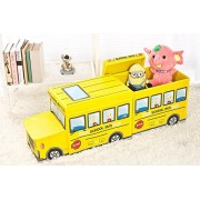 Moon School Bus Combination,Kids Collapsible Toy Storage Organizer, Box Combination Folding for Kids Bedroom, Toys, Car Suit(A Head, A Box)