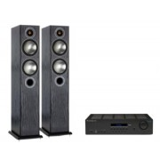 Pachete PROMO STEREO - Monitor Audio - Bronze 5 + Cambridge Audio Topaz SR20 Black Oak