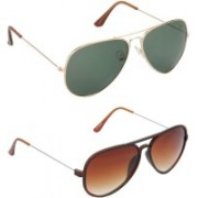 Hrinkar Aviator Sunglasses(Green)