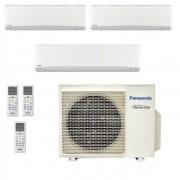 Panasonic Condizionatore Trial Split Gas R-32 Serie Z Etherea Bianco 7000+7000+18000 Btu CU-3Z68TBE WiFi Opzionale A++/A+
