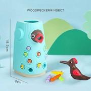 Aoile Pulsación de Insectos Catching Infantil niños de Juguete magnético educativos para la Primera Juguete Puzzle Macarons