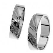 Zlatý snubní prsten Gems Line, 436-0301_0302